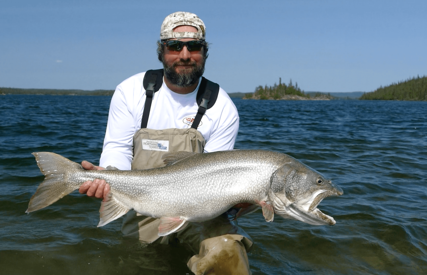 Giant Lake Trout in Great Slave Lake